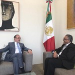 H.E. Dr. Arjun Kumar Karki meets H.E. Carlos M. Sada, Deputy Foreign Minister of Mexico and discussed on the challenges of ongoing international relations, south-south cooperation and trade relations during a program held in the Ministry of Foreign Affairs, Mexico on April 10, 2017.