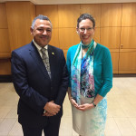 H.E Ambassador Dr. Arjun Kumar Karki during a meeting with the H.E US Ambassador to Nepal Alaina B Teplitz in sideline of swearing-in Ceremony Of Atul Keshap as Ambassador of US to Sri Lanka and Maldives, U.S. Department of State.