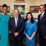 H.E Ambassador Dr. Arjun Kumar Karki and First Lady, Gauree Thakuri with The President of the United States, Barack Obama and First Lady Michelle Obama at the White House.