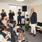 H.E Ambassador Dr. Arjun Kumar Karki addressing students at Nepali Pathsala U.S on Feb 06, 2016