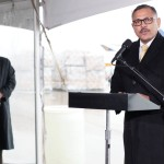 H. E. Ambassador Dr Arjun Kumar Karki speaks at the airlift ceremony as 50 tons of winter supplies are heading to Nepal from Charlotte Douglas International Airport, United States.  Samaritan's Purse is sending relief to earthquake survivors who now face deadly winter conditions. Jan 15, 2016